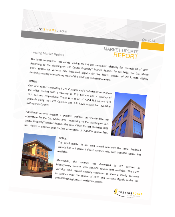 Frederick, Maryland and I-270 Corridor Market Update Report Q4 2013